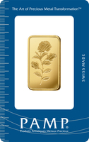 1/2 oz Gold Bar - PAMP Suisse Rosa