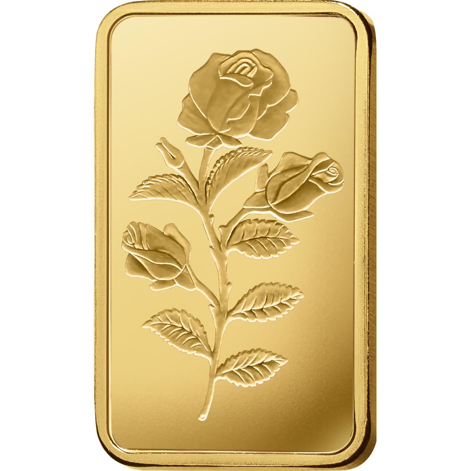 1/2 oncia lingottino d'oro puro 999.9 - PAMP Suisse Rosa