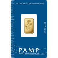 5 gram Gold Bar - PAMP Suisse Rosa