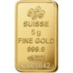 5 grammes lingotin d'or pur 999.9 - PAMP Suisse Rosa