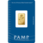 2,5 grammes lingotin d'or pur 999.9 - PAMP Suisse Rosa