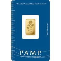 2.5 gram Gold Bar - PAMP Suisse Rosa