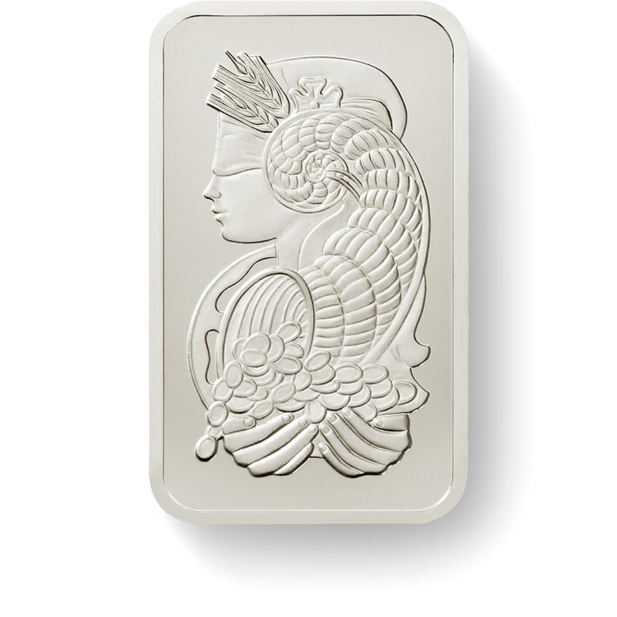 Investire in 1 oncia lingottino di palladio puro 999.5 - PAMP Suisse Lady Fortuna- Front