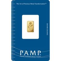 1 gram Gold Bar - PAMP Suisse Rosa