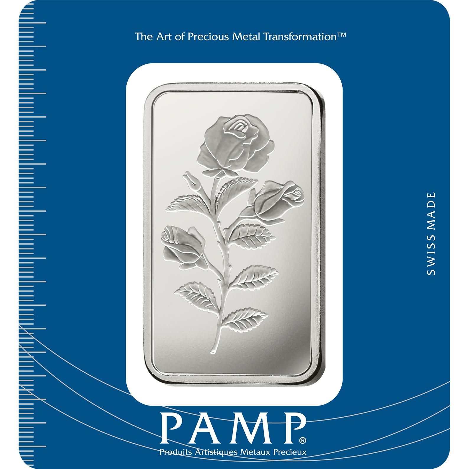 100 Gramm Silberbarren - PAMP Suisse Rosa