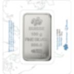100 gram Fine Silver Bar 999.0 - PAMP Suisse Rosa