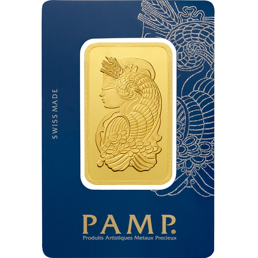 Invest in 100 grams Fine gold Lady Fortuna - PAMP Swiss - Veriscan