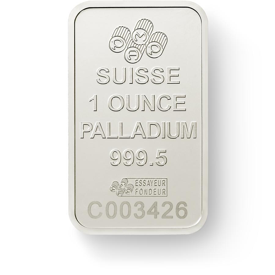Investire in 1 oncia lingottino di palladio puro 999.5 - PAMP Suisse Lady Fortuna - Back