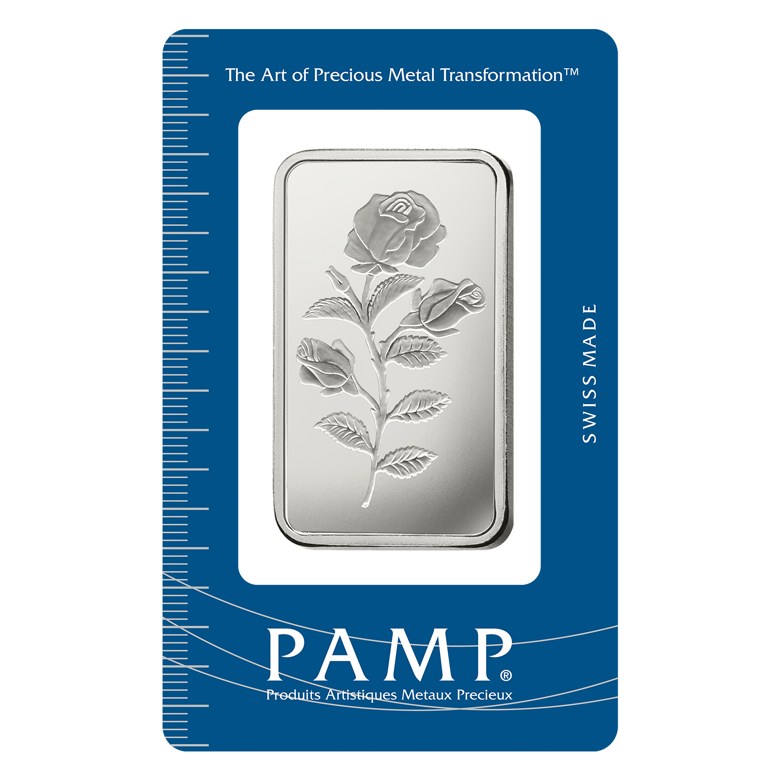 Lingotin d'argent de 1 once - PAMP Suisse Rosa