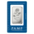 1 oz Fine Silver Bar 999.0 - PAMP Suisse Rosa