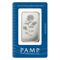 1 oz Silver Bar - PAMP Suisse Rosa