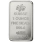 Lingotin d'argent de 1 once pur 999.0 - PAMP Suisse Rosa