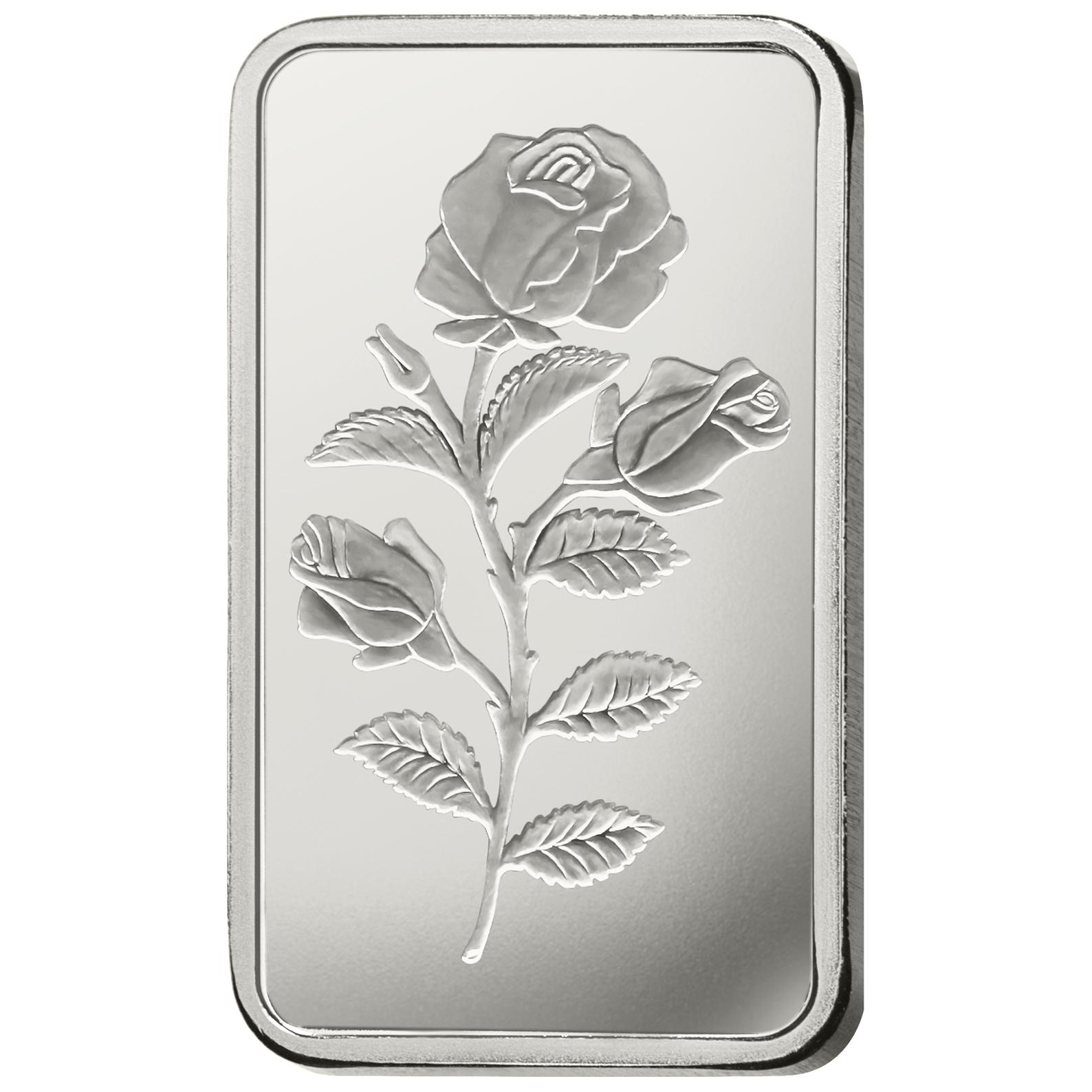 5 grammes lingotin d'argent - PAMP Suisse Rosa