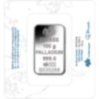 100 Gramm FeinPalladiumbarren 999.5 - PAMP Suisse Lady Fortuna