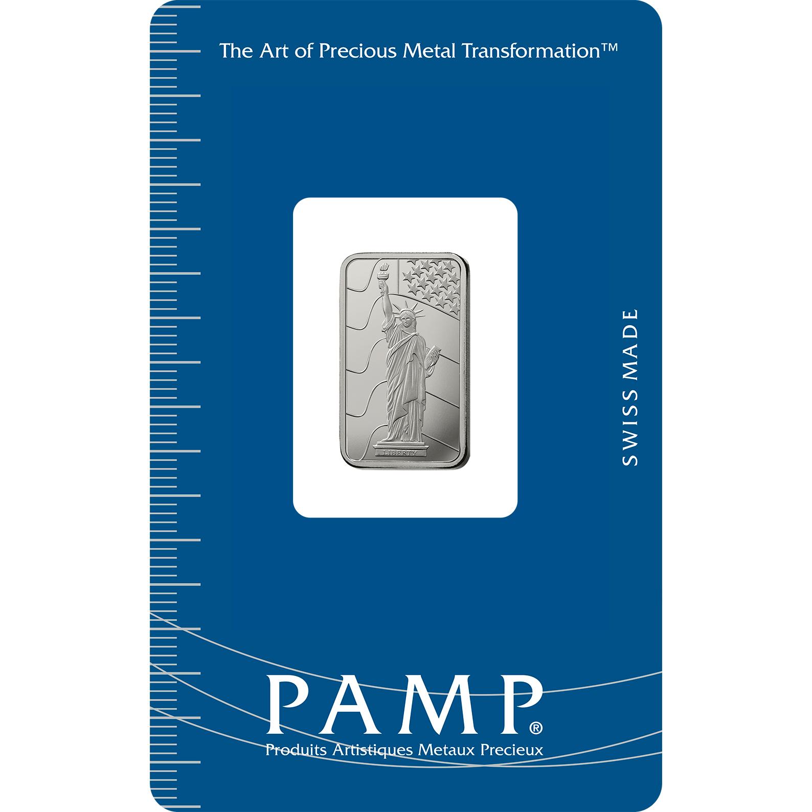 5 gram Platinum Bar - PAMP Suisse Liberty