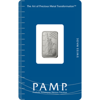 5 gram Platinum Bar - PAMP Suisse Liberty