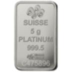 5 gram Fine Platinum Bar 999.5 - PAMP Suisse Liberty