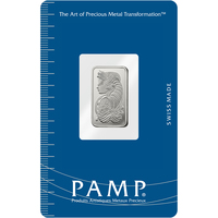 2.5 gram Silver Bar - PAMP Suisse Lady Fortuna