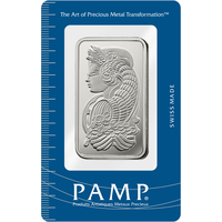 50 gram Silver Bar - PAMP Suisse Lady Fortuna