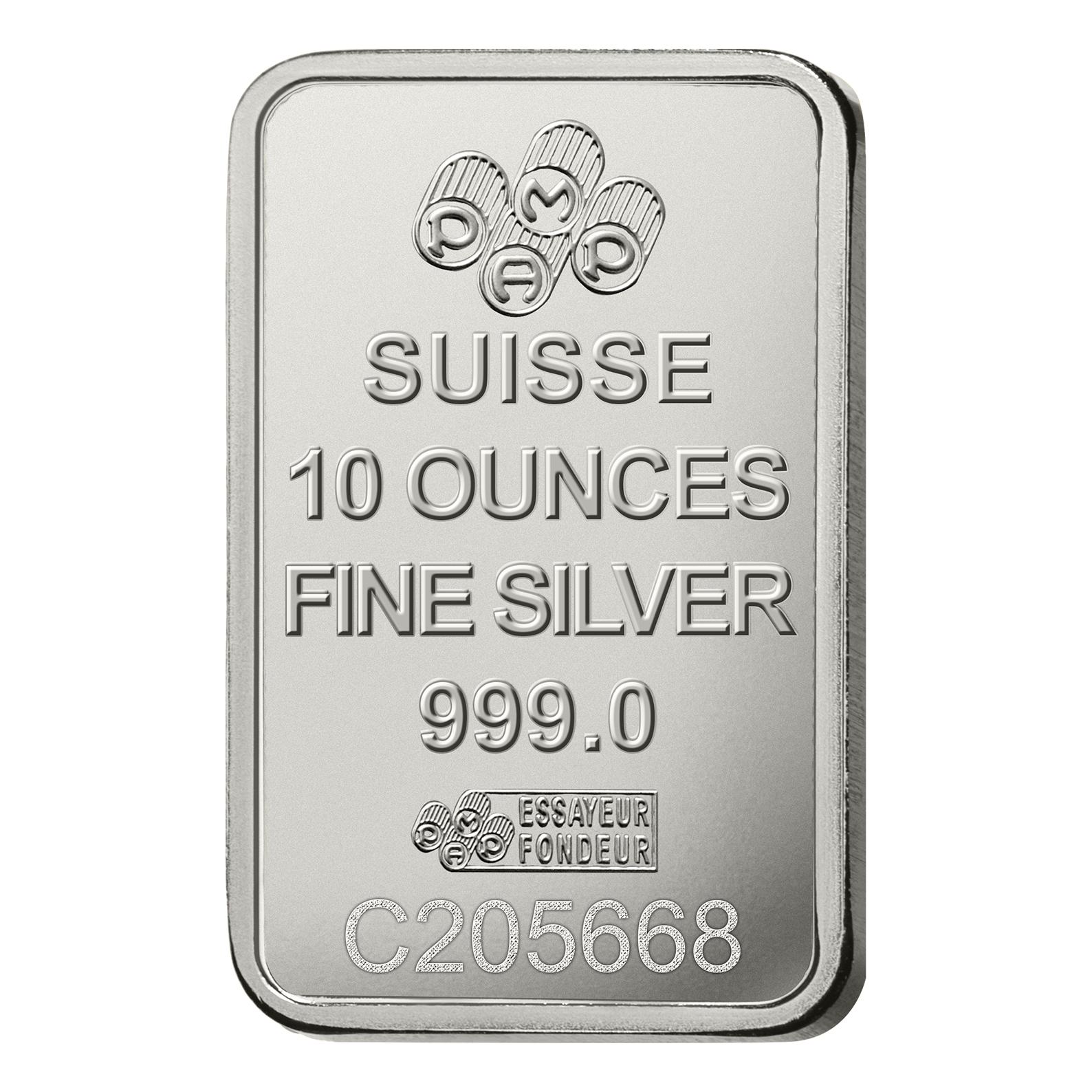 10 Unzen FeinSilberbarren 999.0 - PAMP Suisse Lady Fortuna