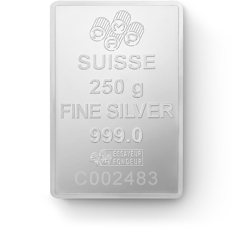 250 gram Fine Silver Bar 999.0 - PAMP Suisse Lady Fortuna