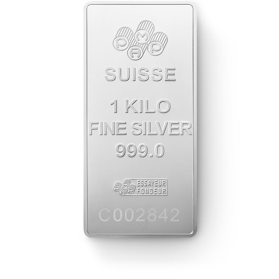 1 kg lingotin d'argent pur 999.0 - PAMP Suisse Lady Fortuna