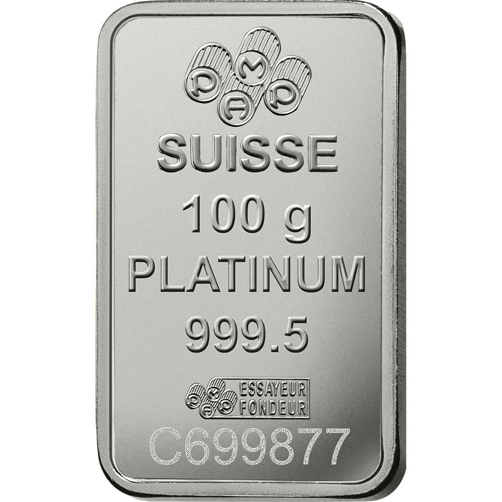 100 grammi lingottino di platino - PAMP Suisse Lady Fortuna