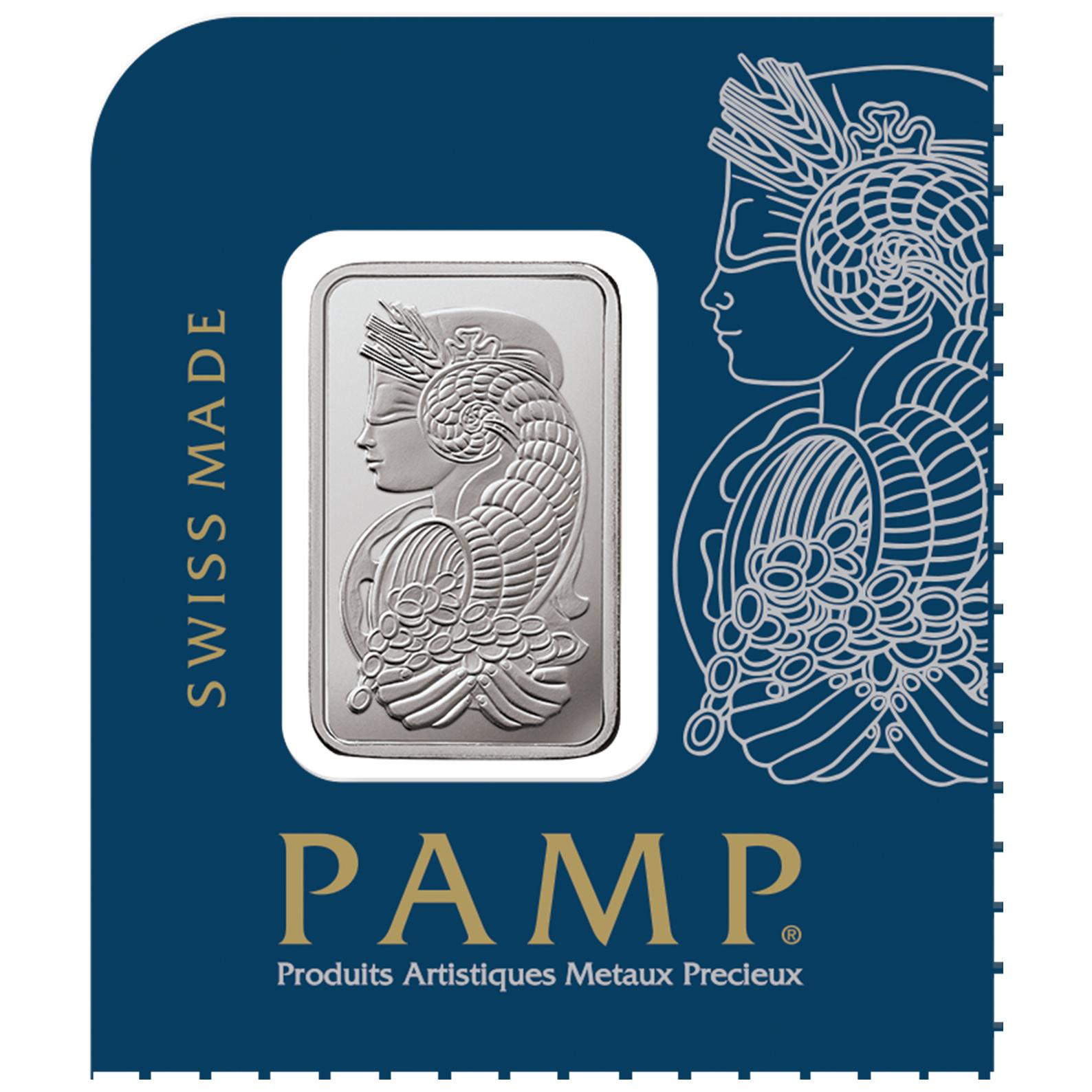 25 x 1 gram Platinum Bar - PAMP Suisse Lady Fortuna