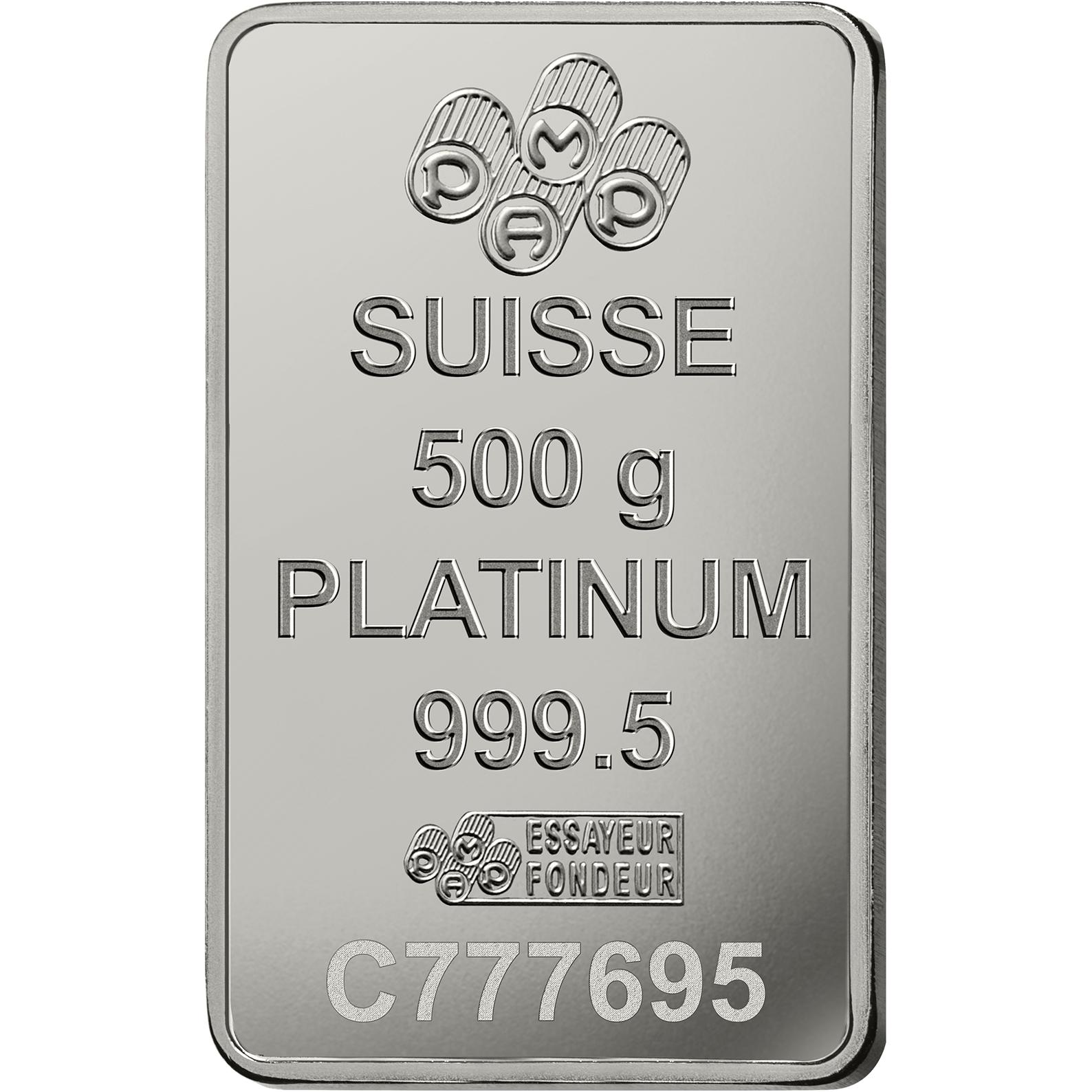 500 gram Platinum Bar - PAMP Suisse Lady Fortuna
