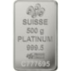 500 grammi lingottino di platino - PAMP Suisse Lady Fortuna