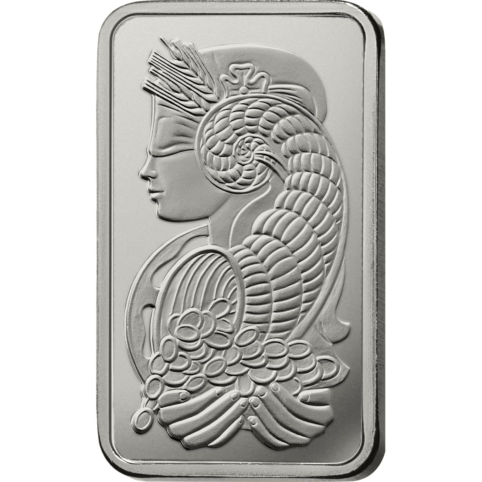 50 grammes lingot de platine - PAMP Suisse Lady Fortuna