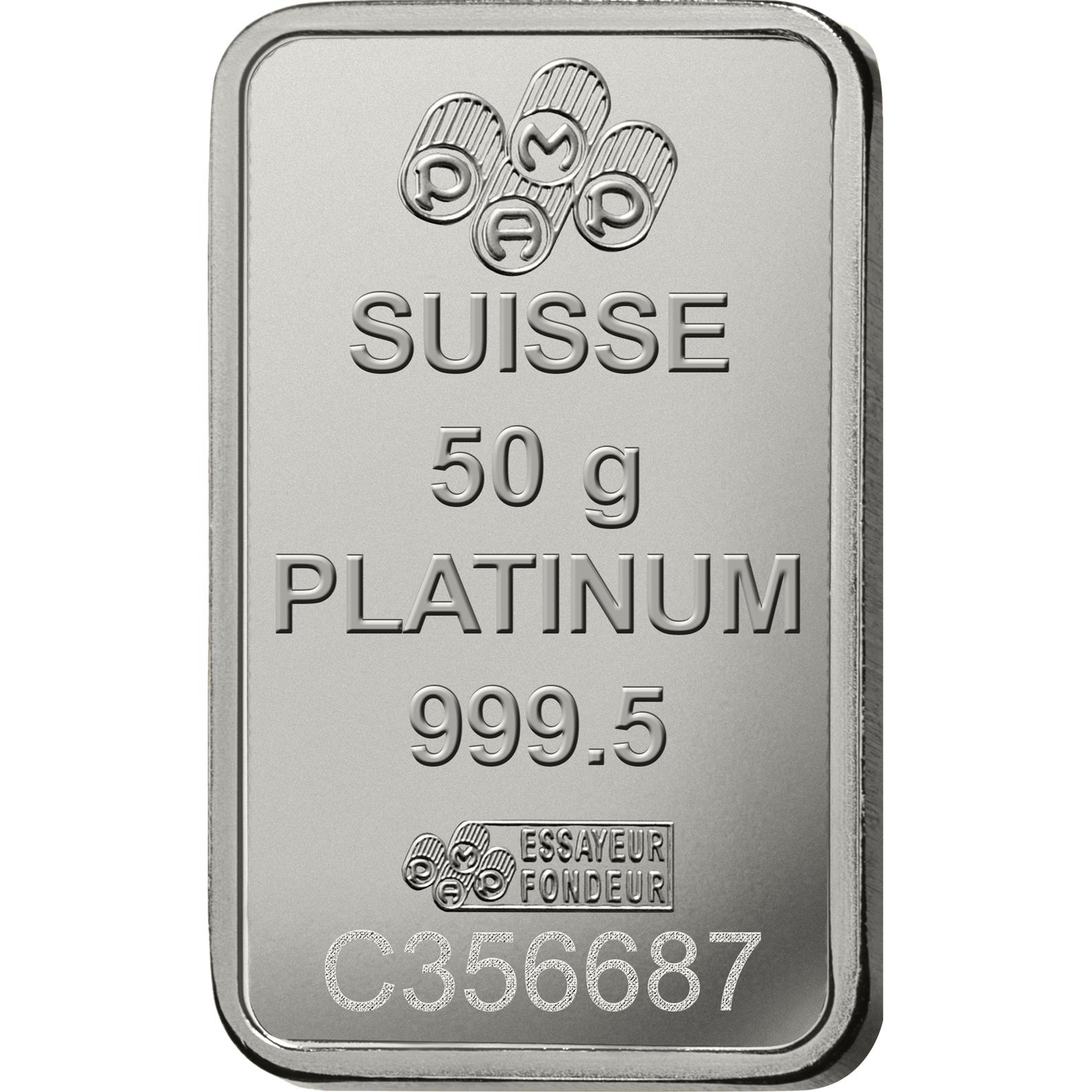 50 grammi lingottino di platino - PAMP Suisse Lady Fortuna