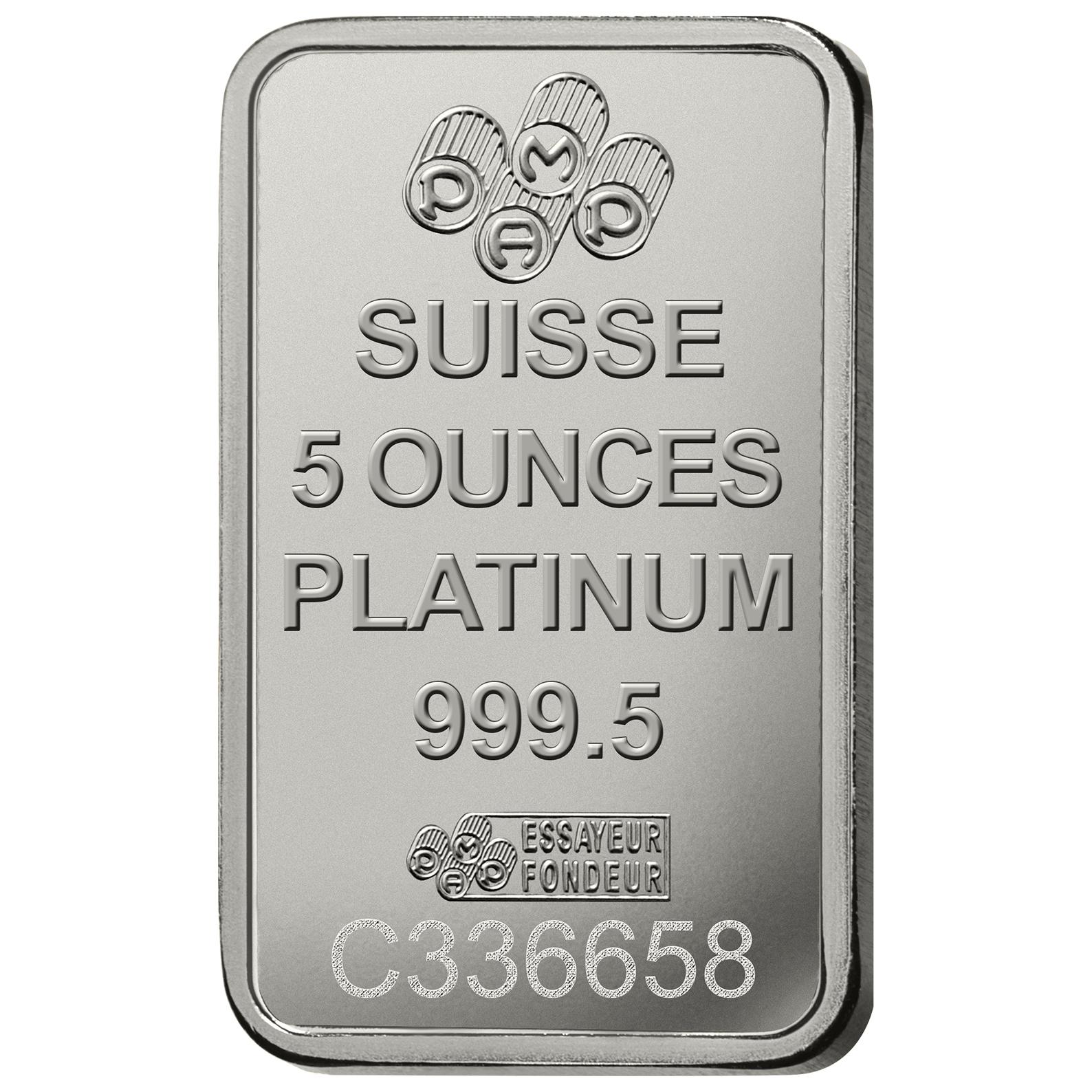 5 once lingottino di platino - PAMP Suisse Lady Fortuna