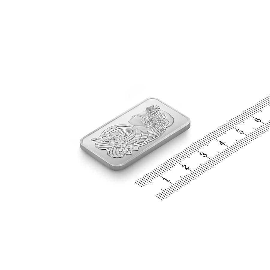 Acquistare 1 oncia lingottino di platino puro 999.5 - PAMP Suisse Lady Fortuna - Ruler view