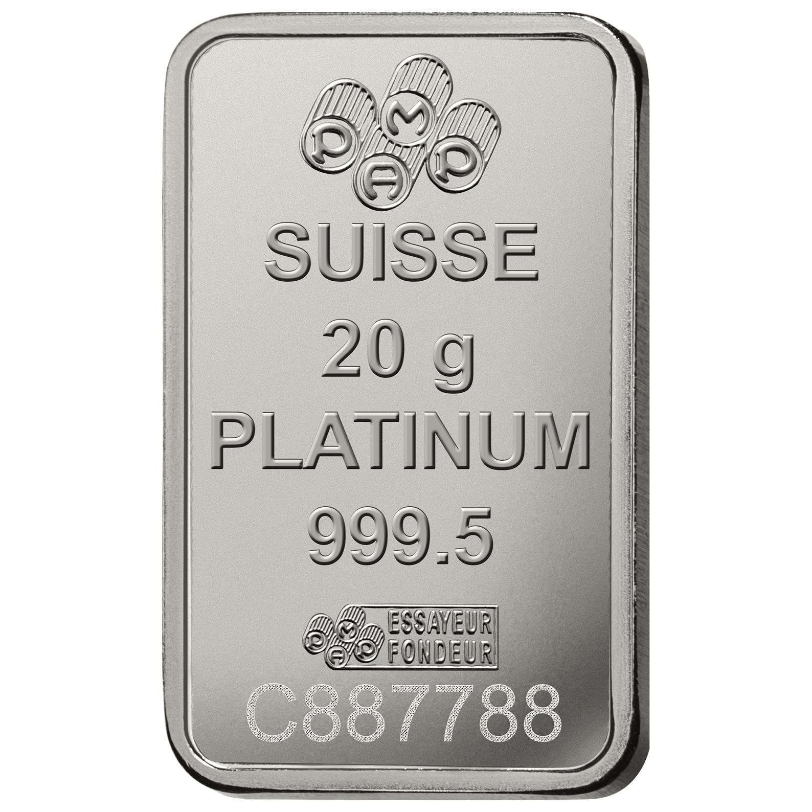 20 Gramm Platinbarren - PAMP Suisse Lady Fortuna