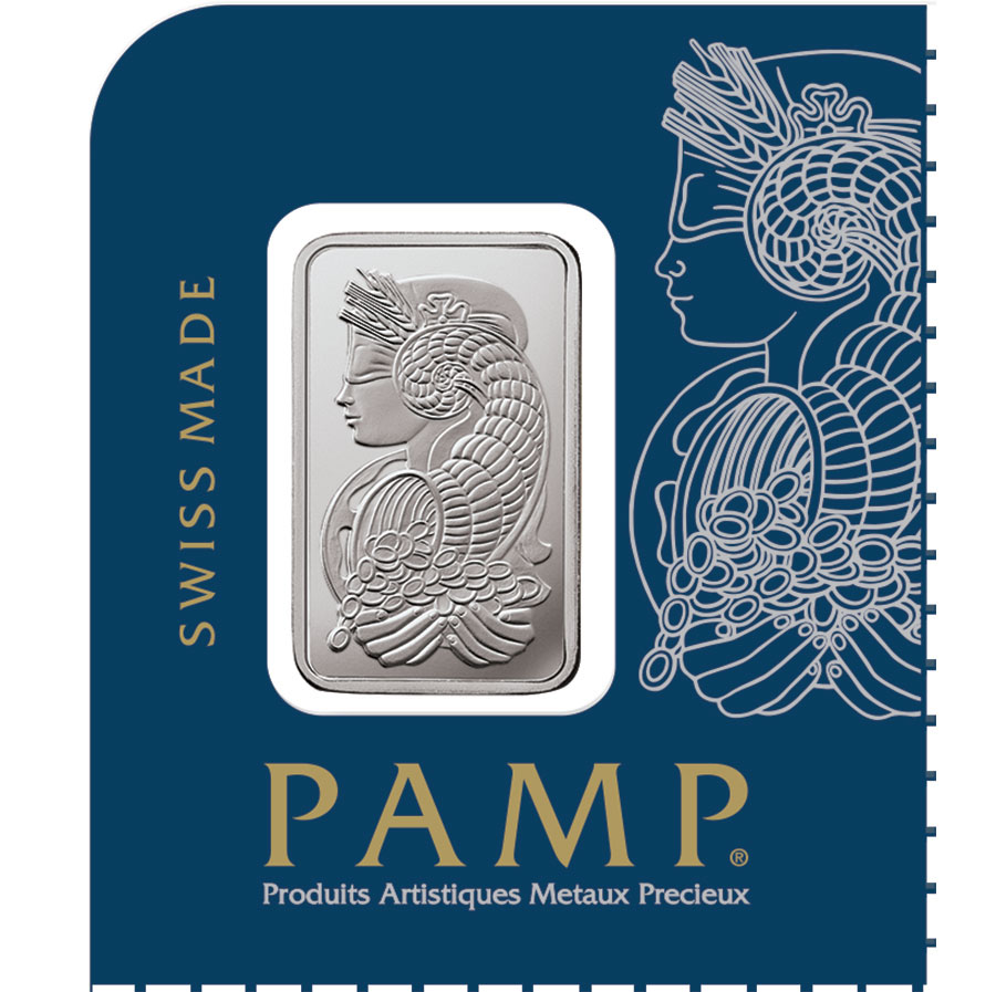 Multigram 1g 12x platinum fortuna rectangular ingot pamp minted 0.9995 lady