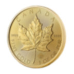 1 oz Fine Gold Coin 999.9 - Maple Leaf BU Mixed Years