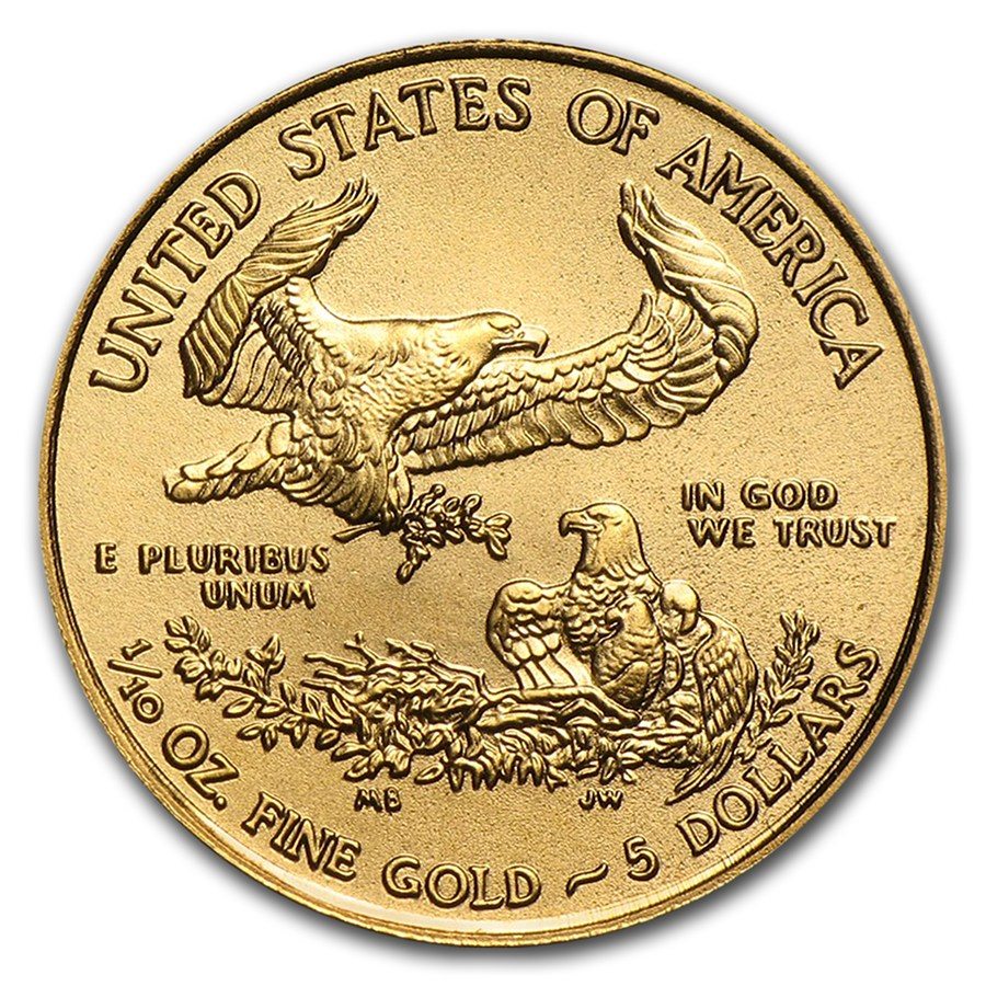 1/10 oz Fine Gold Coin 916.7 - American Eagle BU Mixed Years