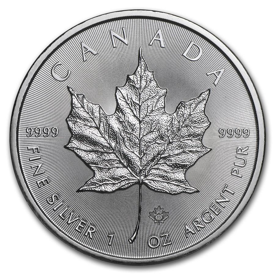 1 Unze Feinsilbermünze 999.9 - Maple Leaf BU Gemischte Jahre