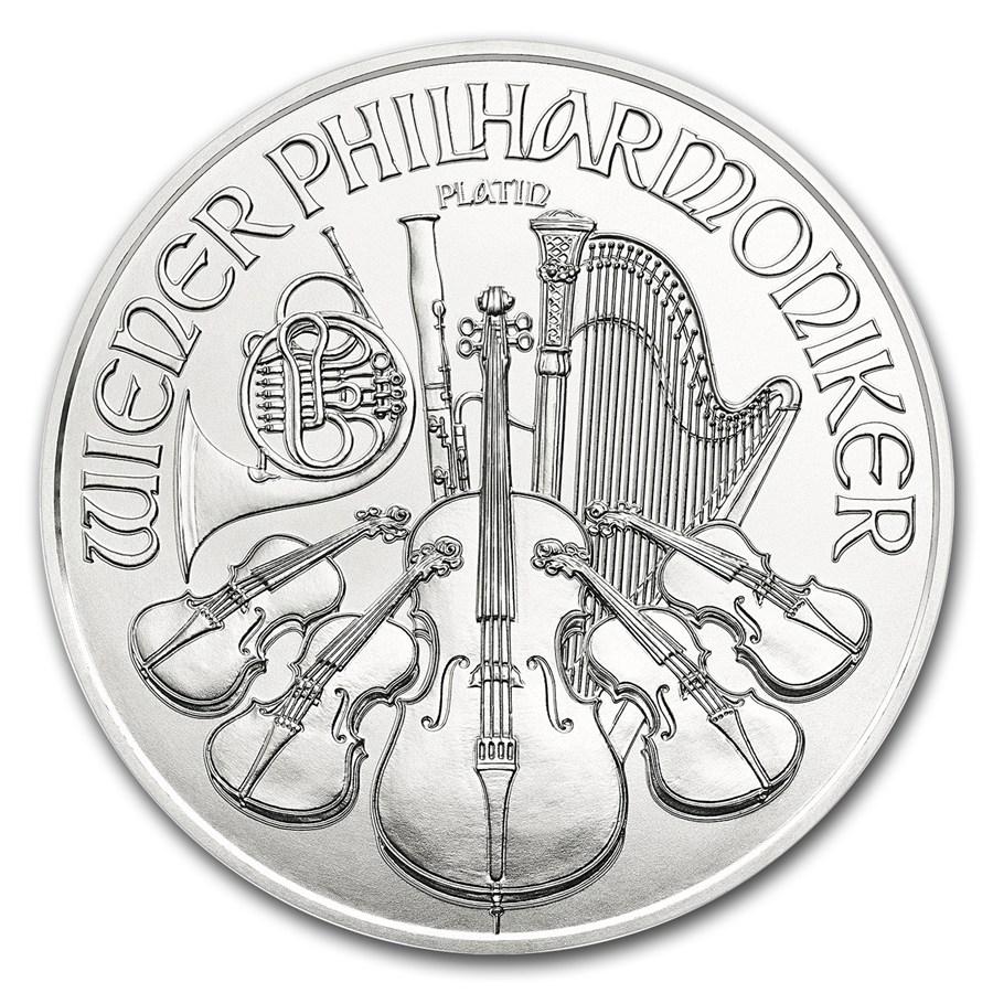 1 Unze FeinPlatinmünze 999.5 - Philharmoniker BU Gemischte Jahre