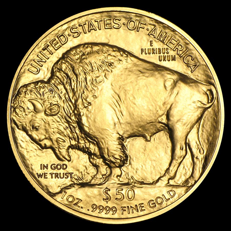 1 oz Fine Gold Coin 999.9 -  Buffalo BU Mixed Years