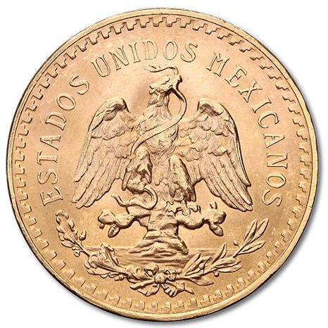 Fine Gold Coin 900.0 - Mexico 50 Pesos Mixed Years