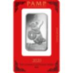 1 Unze FeinSilberbarren 999.0 - PAMP Suisse Lunar Ratte