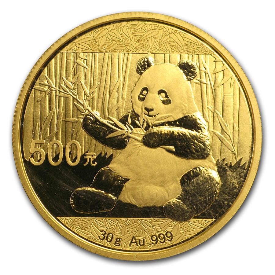 30 grammes pièce d'or pur 999.0 - Panda BU 2017