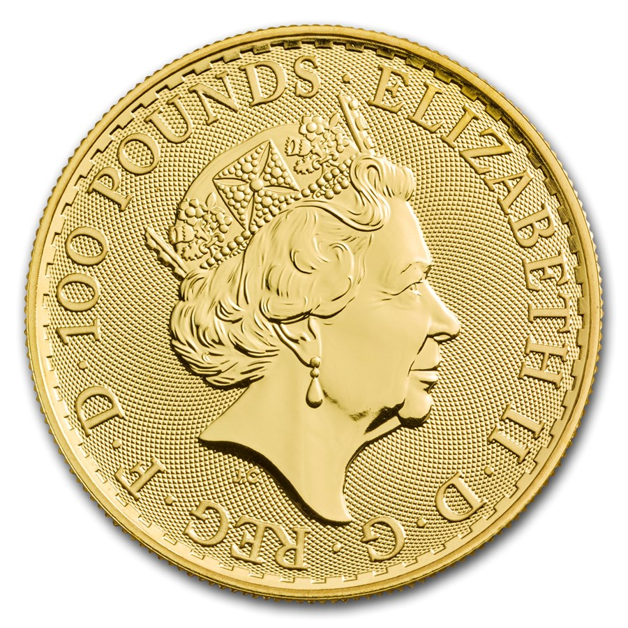 1 oz Fine Gold Coin 999.9 - Britannia BU Mixed Years