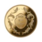 1/4 oz Fine Gold Circular Ingot 999.9 - QoQa Edition