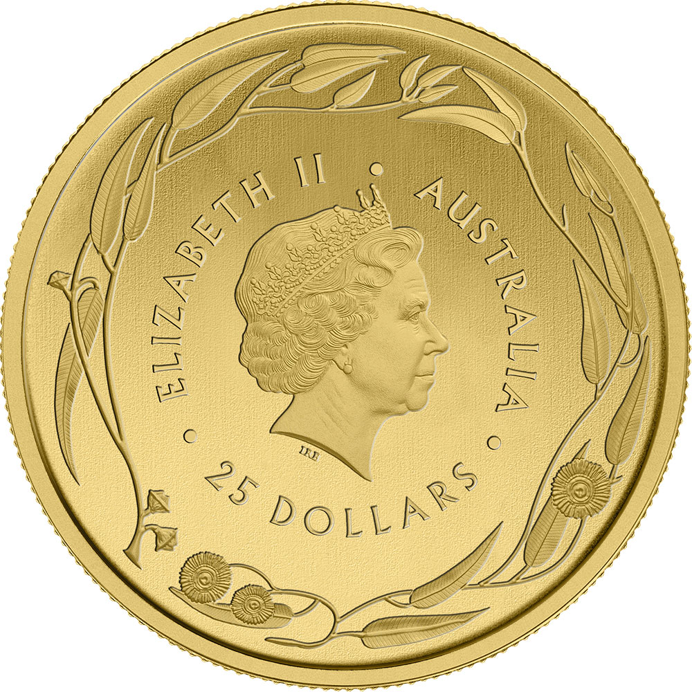 1/4 once pièce d'or pur 999.9 - Kangourou Veriscan BU Années Mixtes
