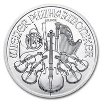2018 Filarmonica d'argento 1 oncia BU