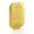 Buy 100 grams Fine gold Cast Bar - PAMP Swiss - 3/4 view