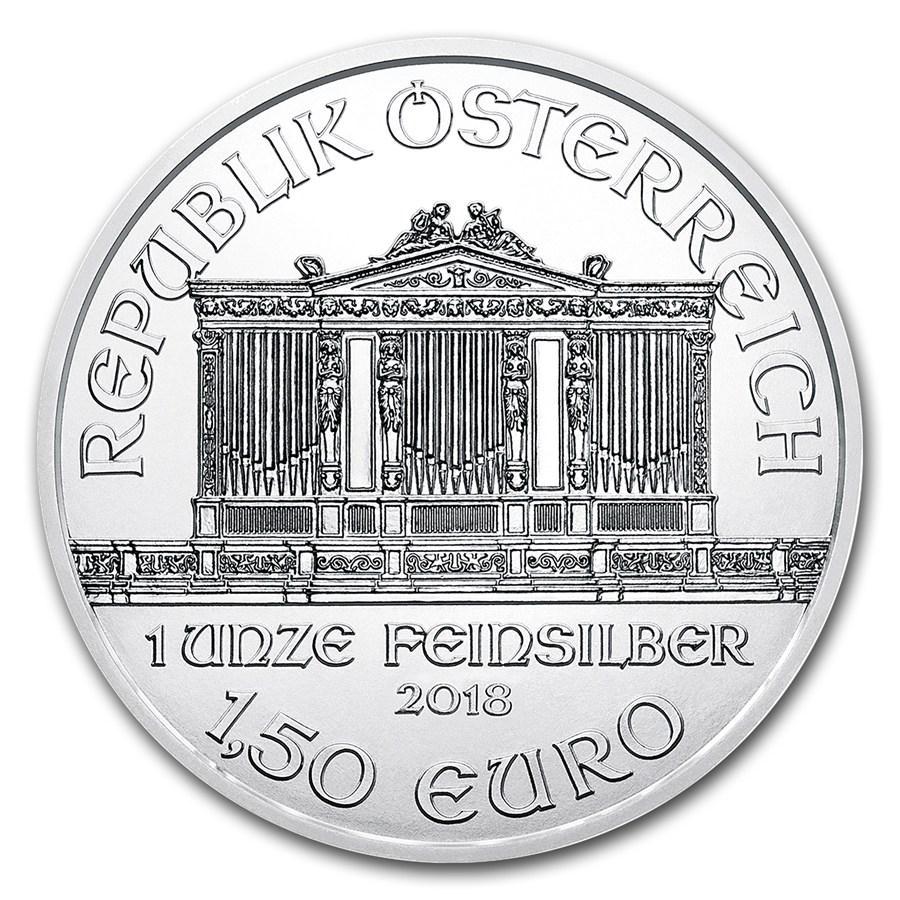 1 oz Silver Coin - Philharmonic BU 2018